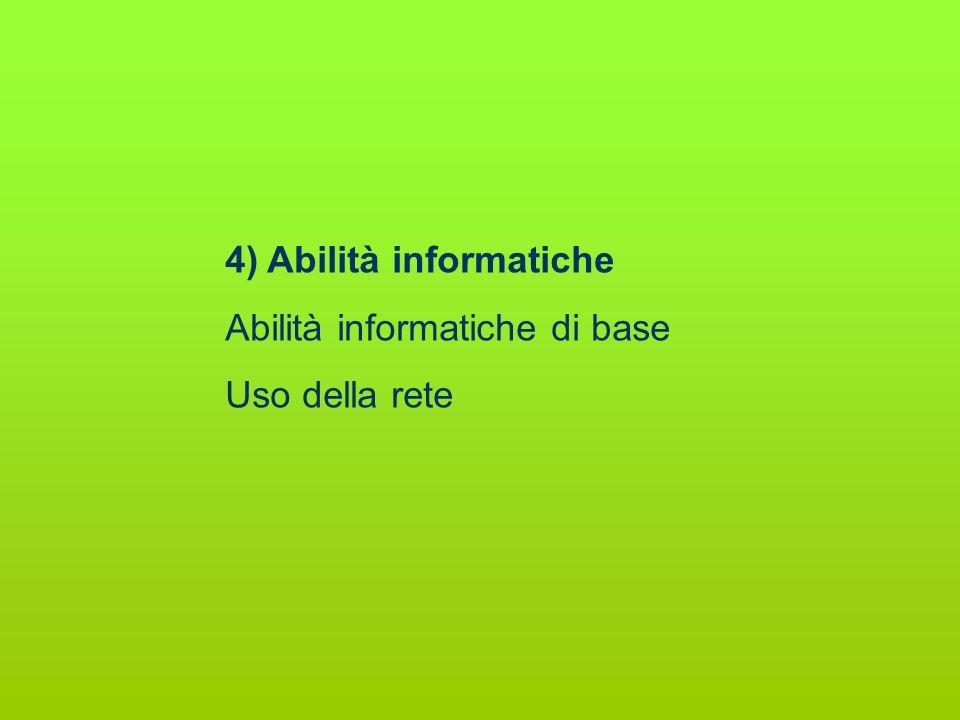 4) Abilità informatiche