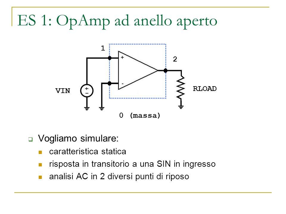 ES 1: OpAmp ad anello aperto