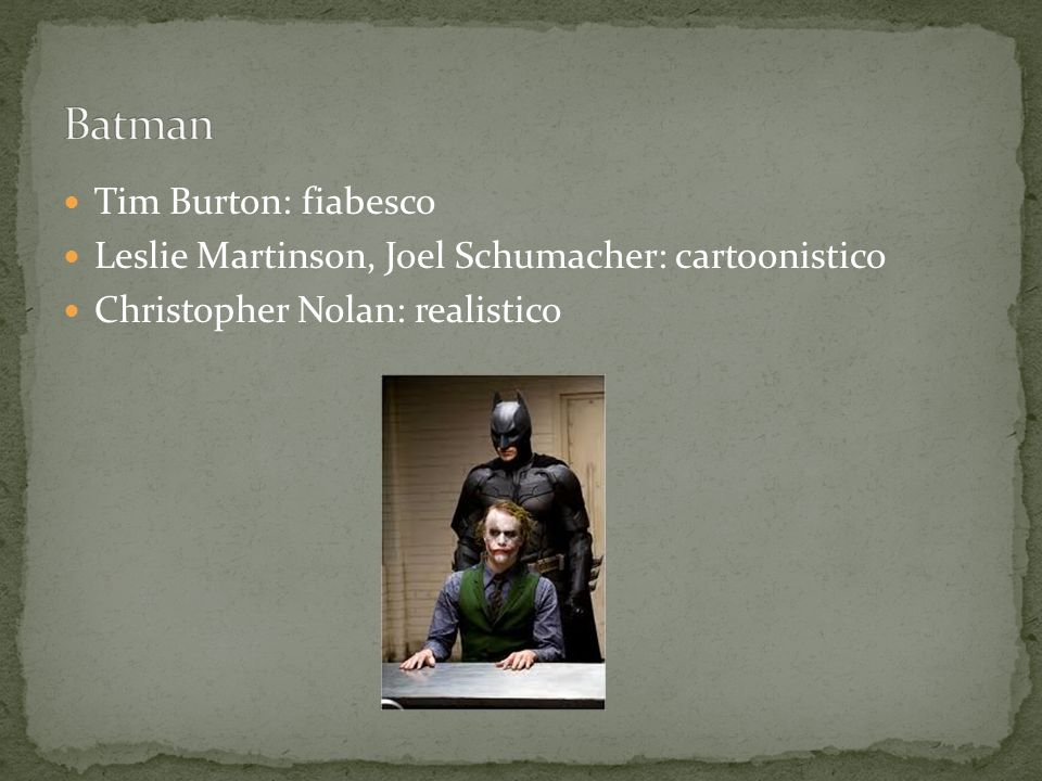 Batman Tim Burton: fiabesco
