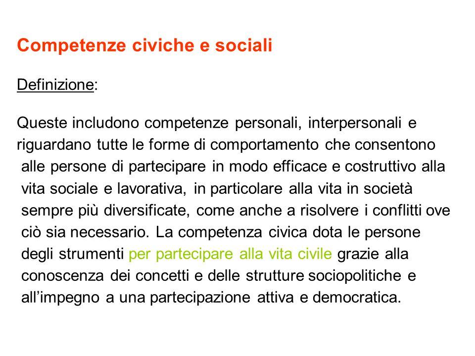 Competenze civiche e sociali