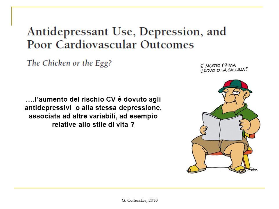 ….l'aumento del rischio CV è dovuto agli antidepressivi o alla stessa depressione, associata ad altre variabili, ad esempio relative allo stile di vita