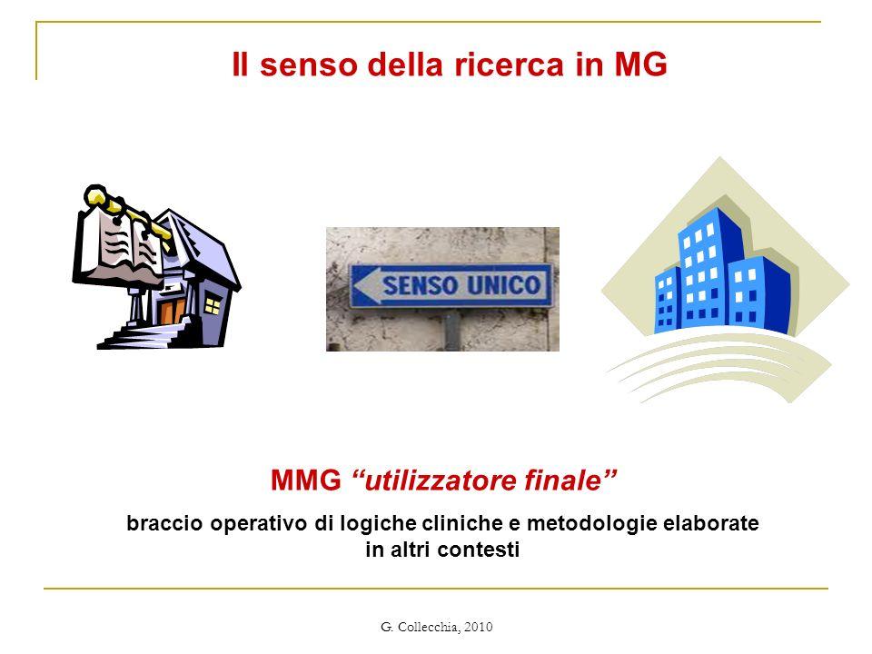 Il senso della ricerca in MG MMG utilizzatore finale