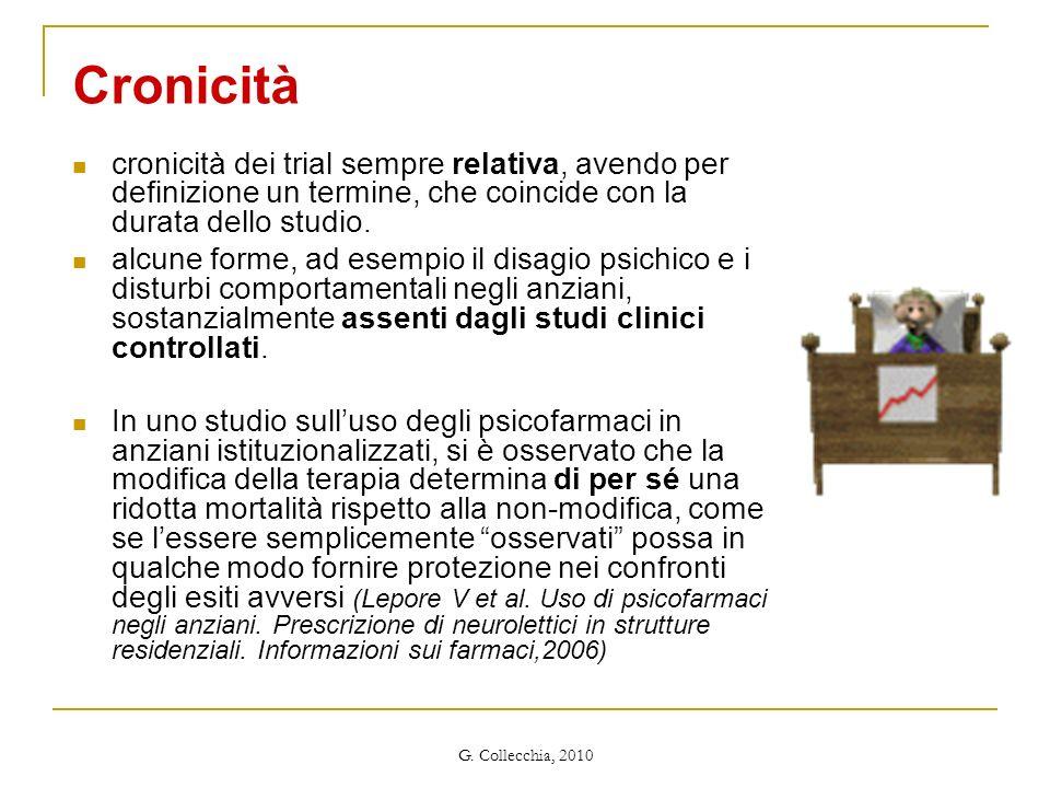Cronicità cronicità dei trial sempre relativa, avendo per definizione un termine, che coincide con la durata dello studio.
