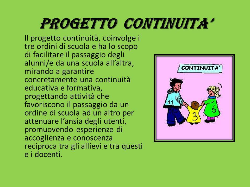 PROGETTO CONTINUITA'