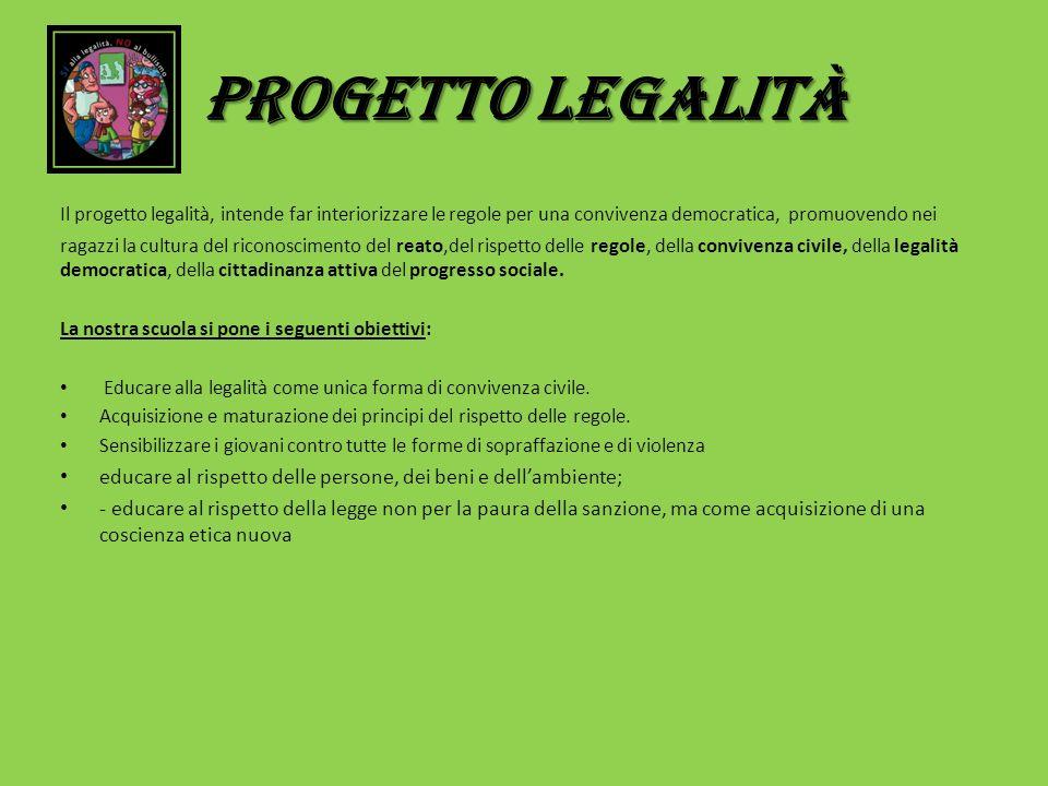 PROGETTO LEGALITà