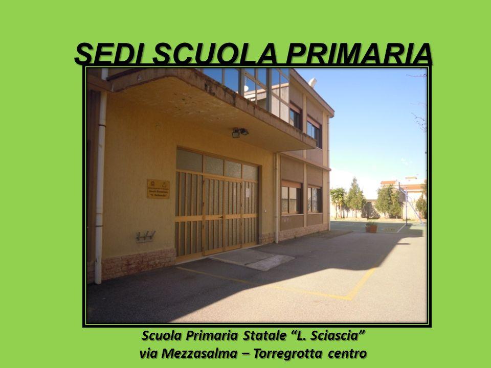 SEDI SCUOLA PRIMARIA Scuola Primaria Statale L. Sciascia via Mezzasalma – Torregrotta centro
