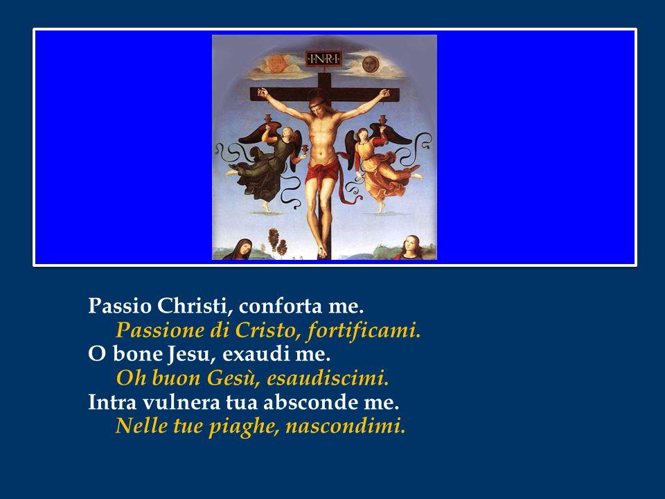 Passio Christi, conforta me. Passione di Cristo, fortificami