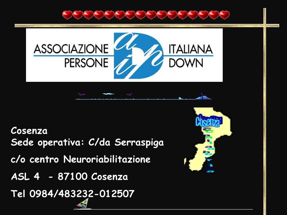 Cosenza Sede operativa: C/da Serraspiga c/o centro Neuroriabilitazione