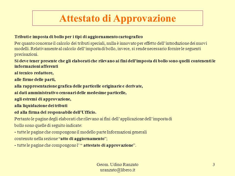 Attestato di Approvazione