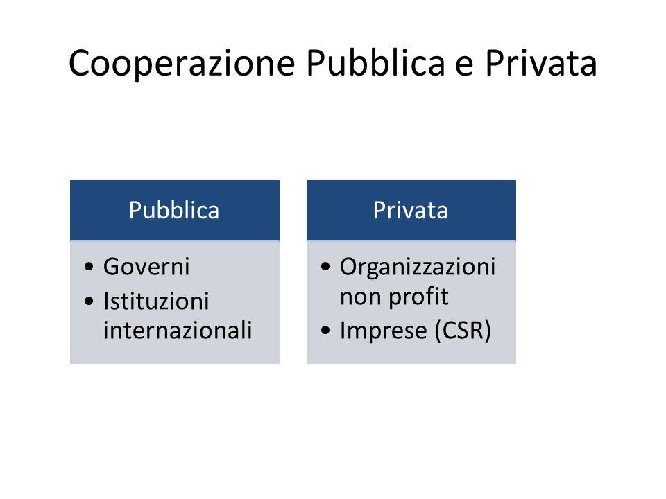Cooperazione Pubblica e Privata