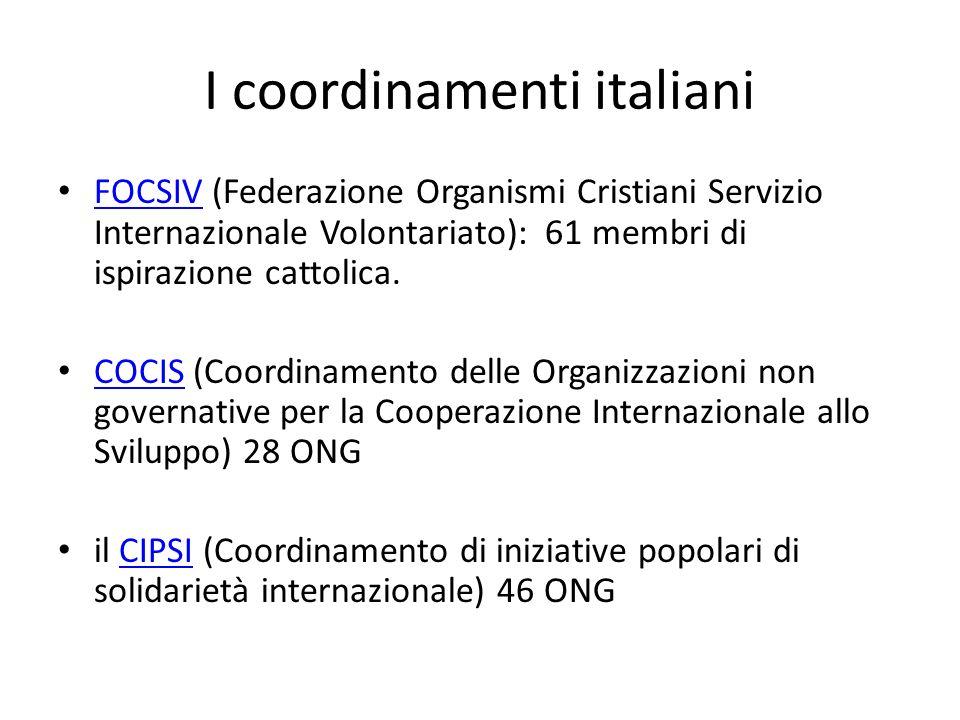 I coordinamenti italiani