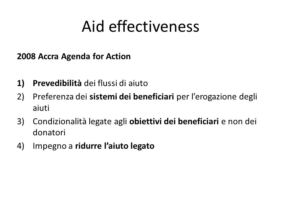 Aid effectiveness 2008 Accra Agenda for Action