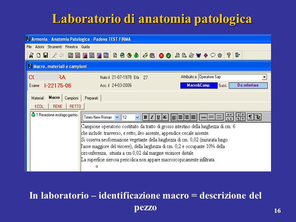 Laboratorio di anatomia patologica