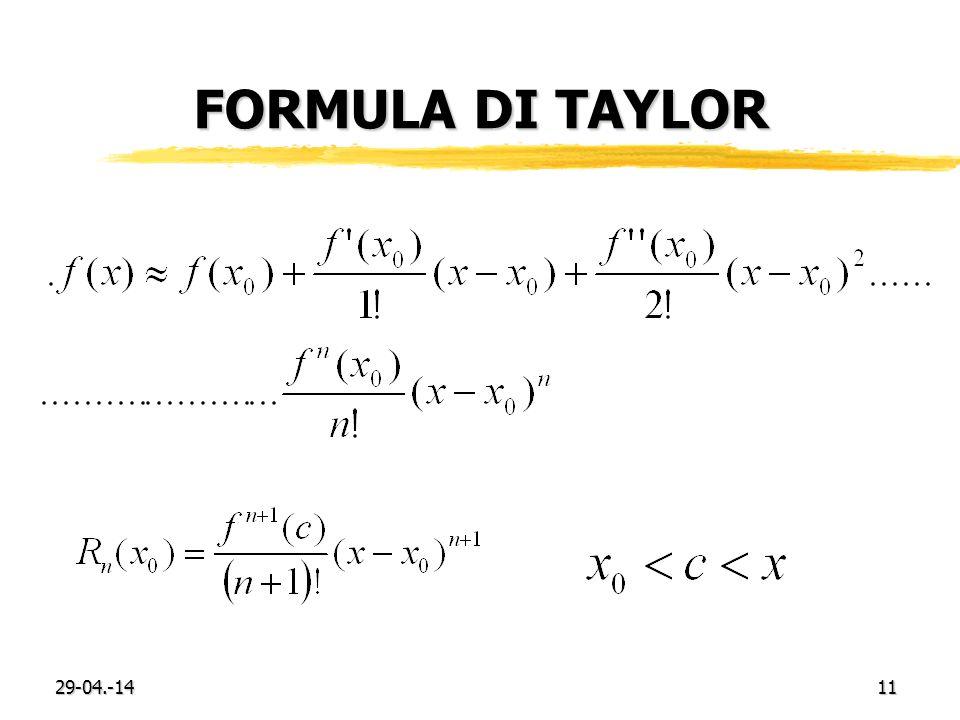 Formula di Taylor 29-03.-17