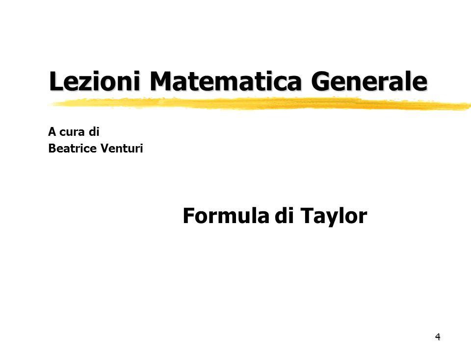 Lezioni Matematica Generale