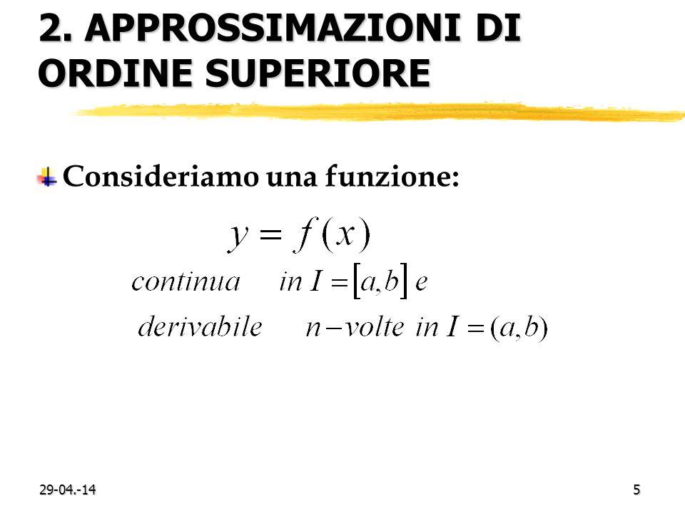 2. approssimazioni di ordine superiore