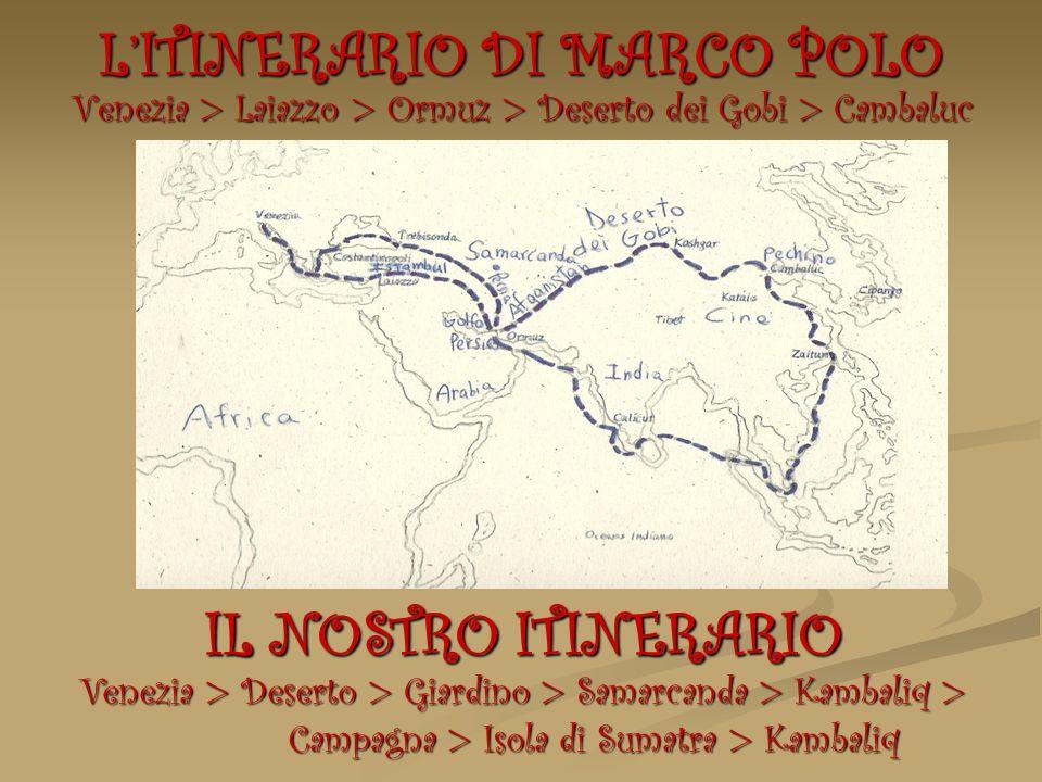 L'ITINERARIO DI MARCO POLO