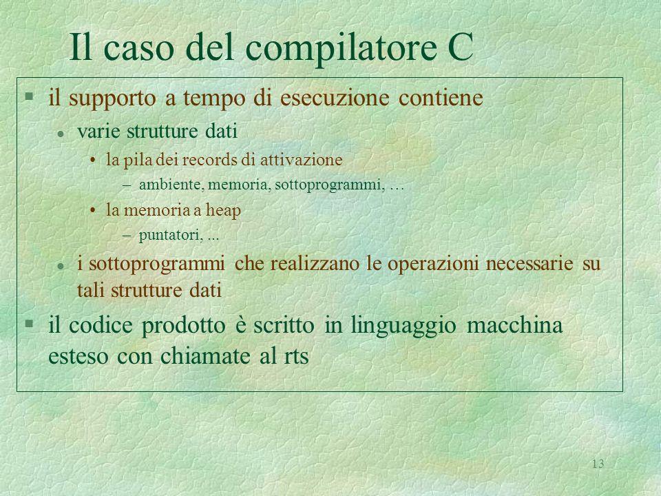 Il caso del compilatore C