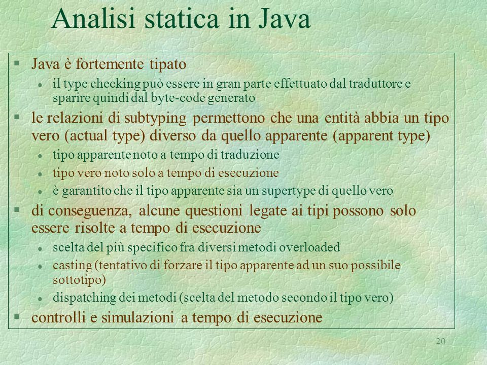 Analisi statica in Java