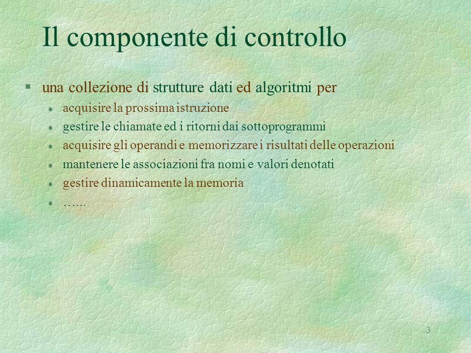 Il componente di controllo