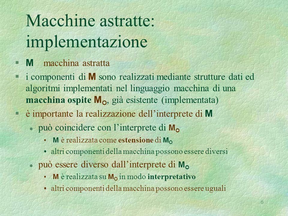 Macchine astratte: implementazione