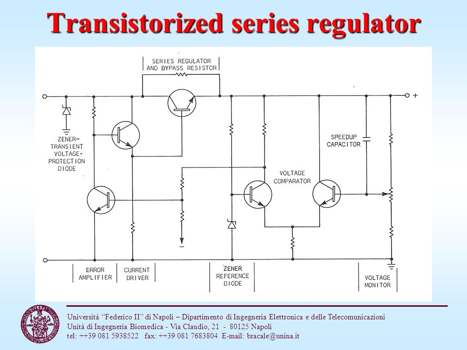 Transistorized series regulator