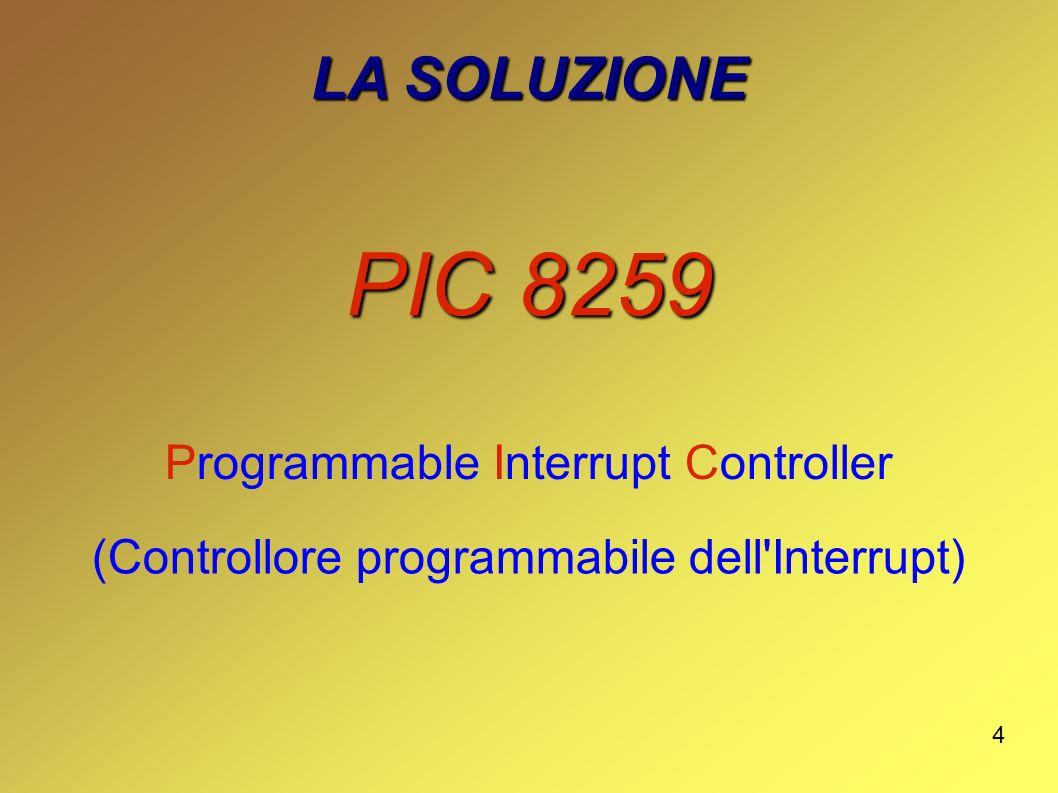 PIC 8259 LA SOLUZIONE Programmable Interrupt Controller