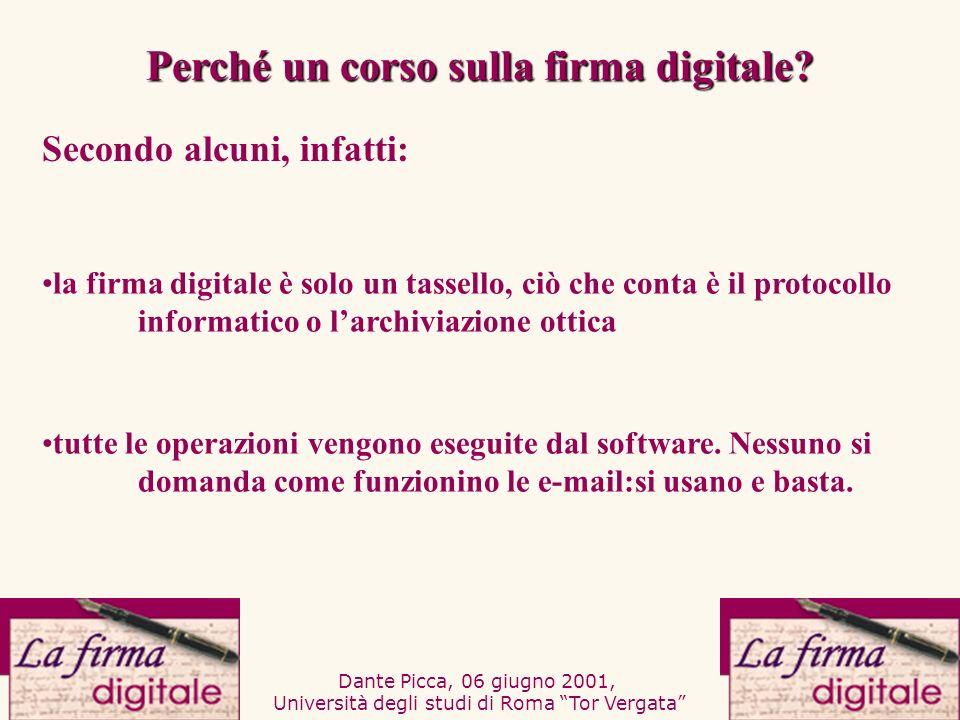 Perché un corso sulla firma digitale