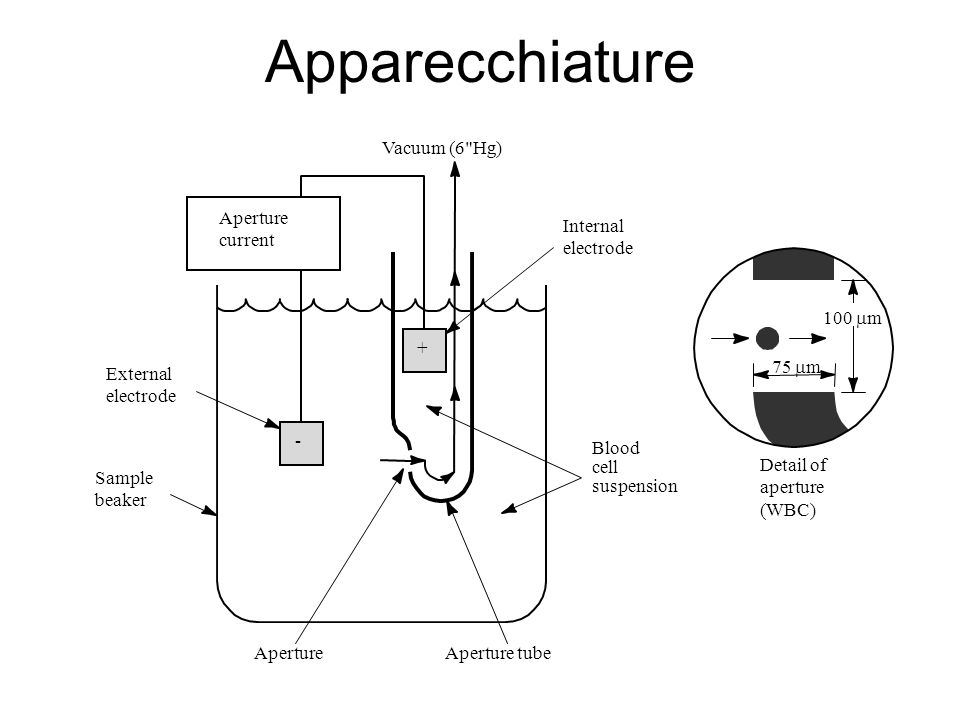 Apparecchiature Vacuum (6 Hg) Aperture current Internal electrode