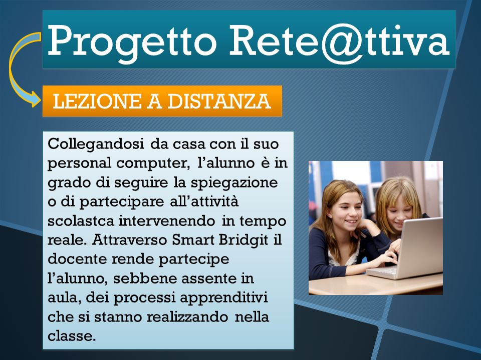 Progetto Rete@ttiva LEZIONE A DISTANZA