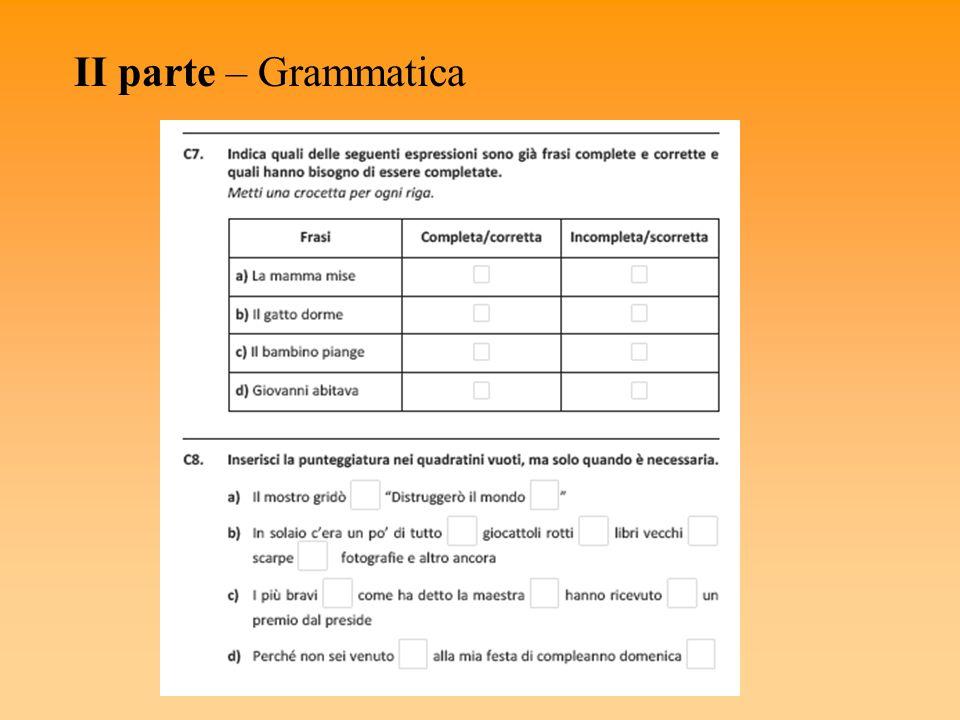 II parte – Grammatica