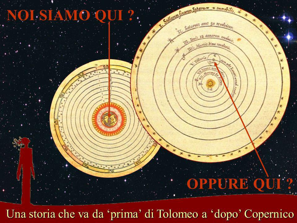 Una storia che va da 'prima' di Tolomeo a 'dopo' Copernico