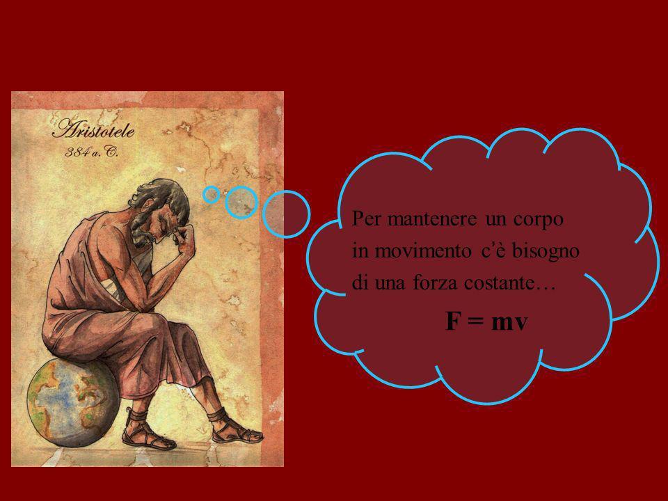 F = mv Per mantenere un corpo in movimento c'è bisogno