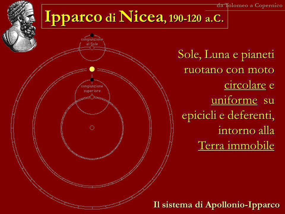 da Tolomeo a Copernico Ipparco di Nicea, 190-120 a.C.