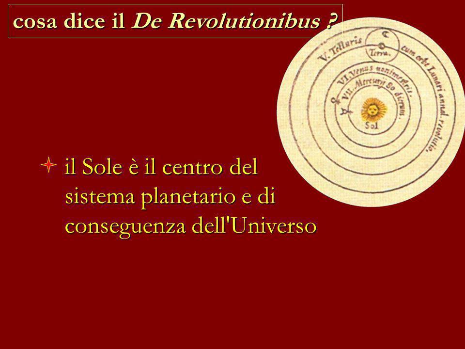cosa dice il De Revolutionibus