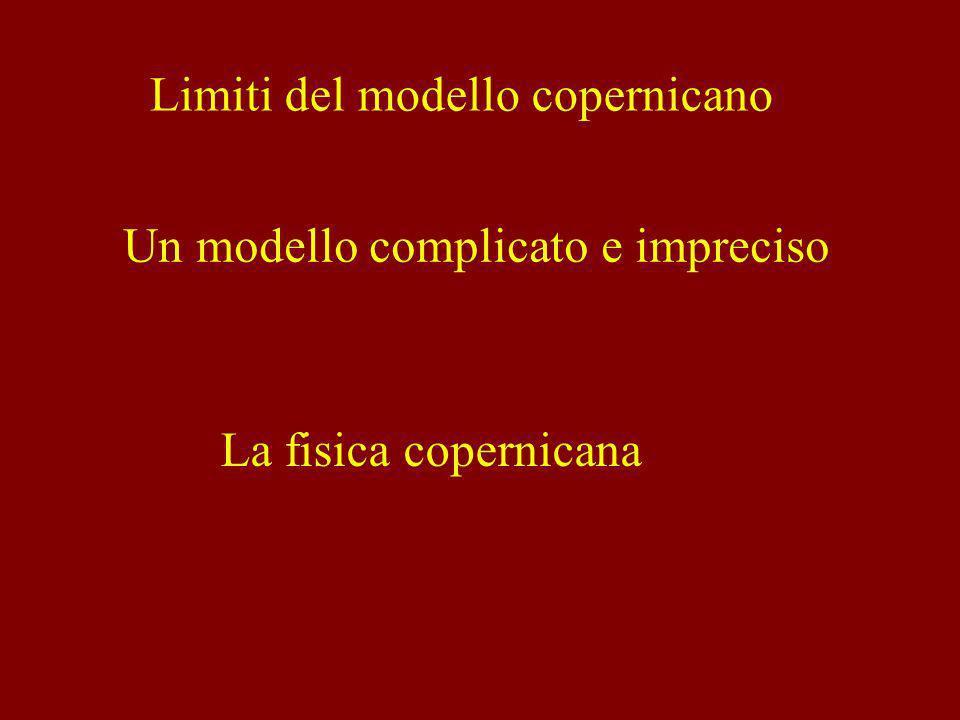Limiti del modello copernicano