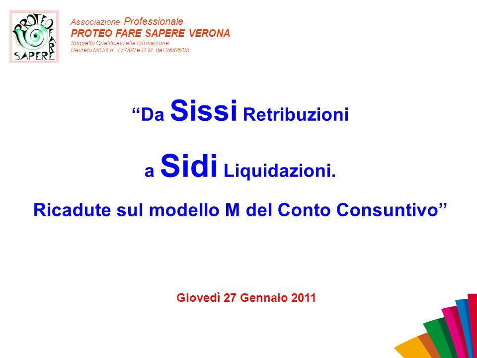 Da Sissi Retribuzioni Ricadute sul modello M del Conto Consuntivo