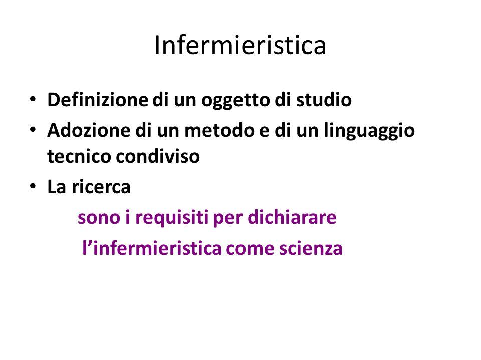 Infermieristica Definizione di un oggetto di studio