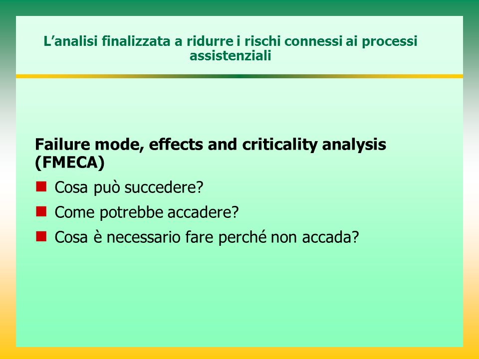 Failure mode, effects and criticality analysis (FMECA)