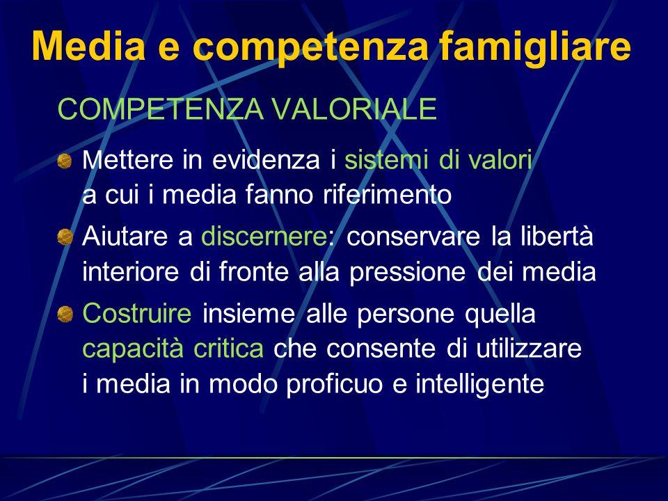 Media e competenza famigliare