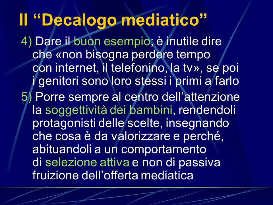 Il Decalogo mediatico