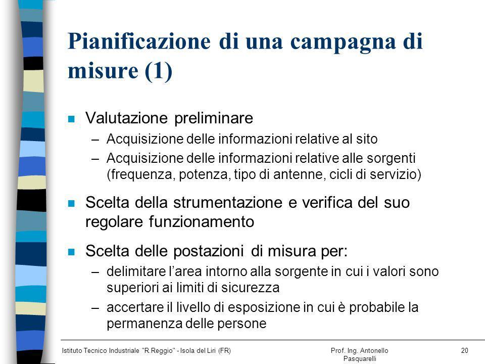 Pianificazione di una campagna di misure (1)