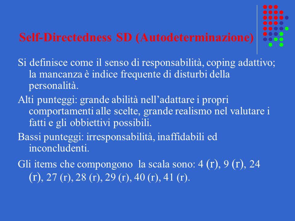 Self-Directedness SD (Autodeterminazione)