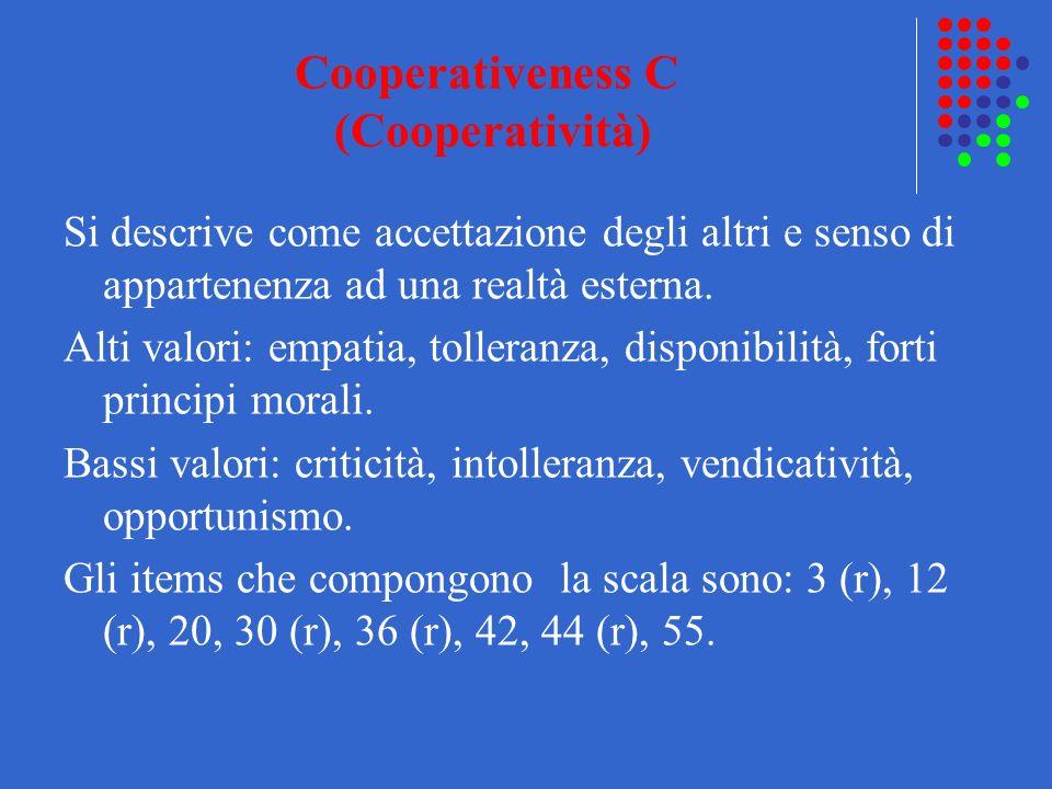 Cooperativeness C (Cooperatività)