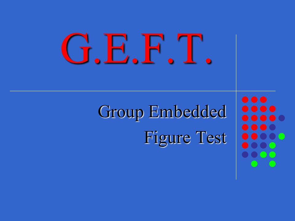 Group Embedded Figure Test