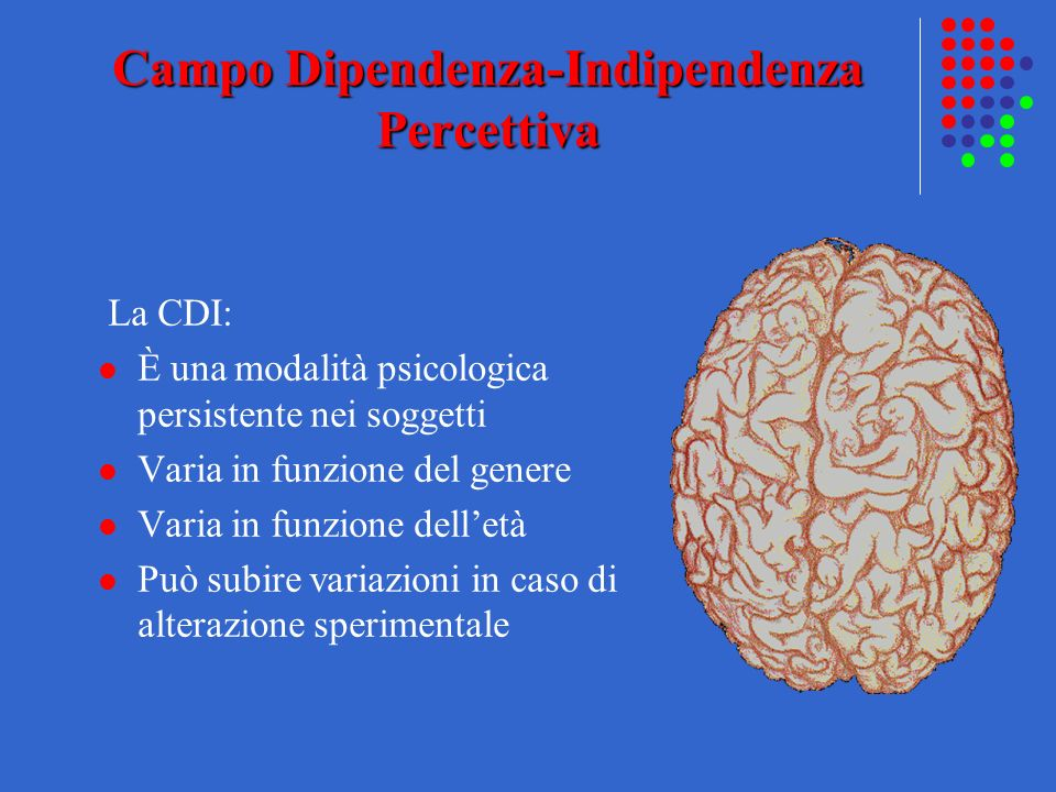 Campo Dipendenza-Indipendenza Percettiva