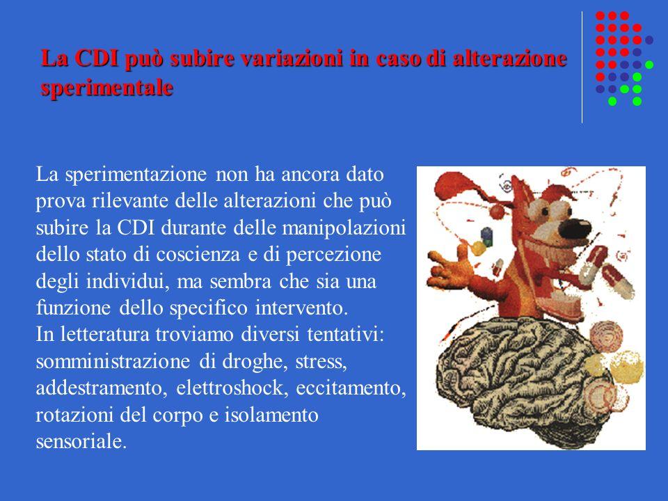 La CDI può subire variazioni in caso di alterazione sperimentale