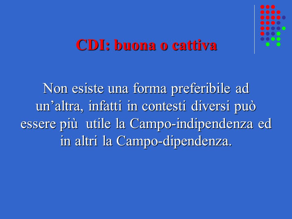 CDI: buona o cattiva