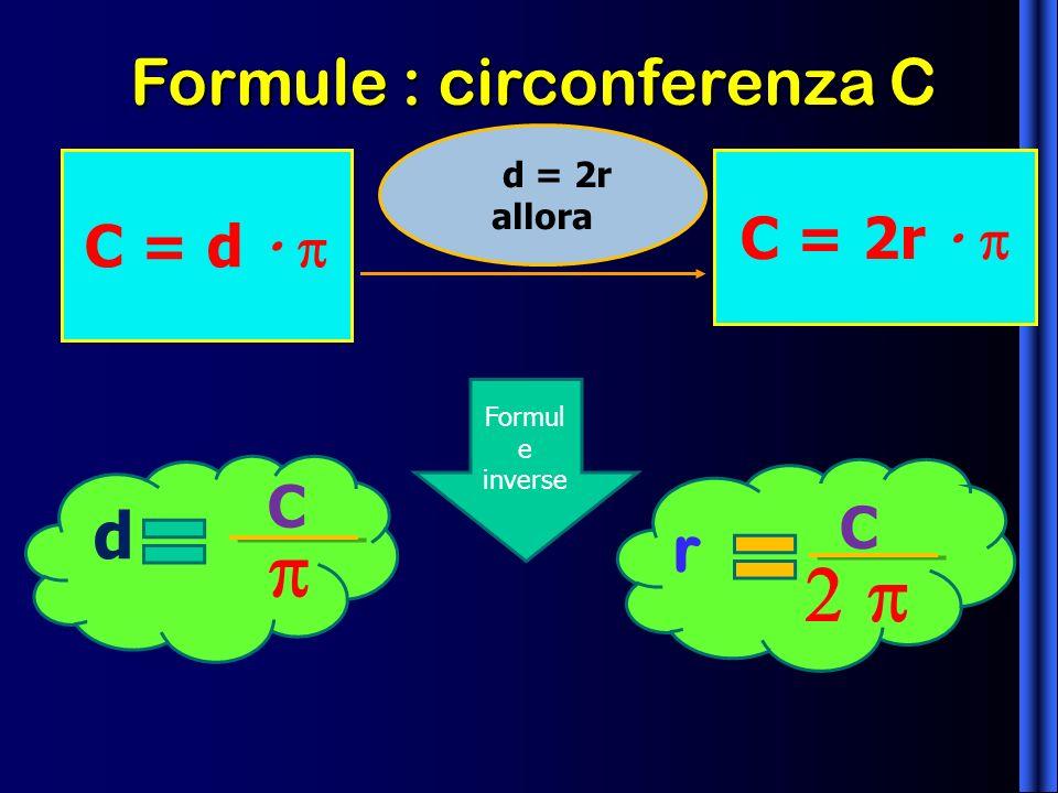 Formule : circonferenza C