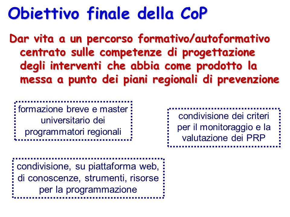 Obiettivo finale della CoP
